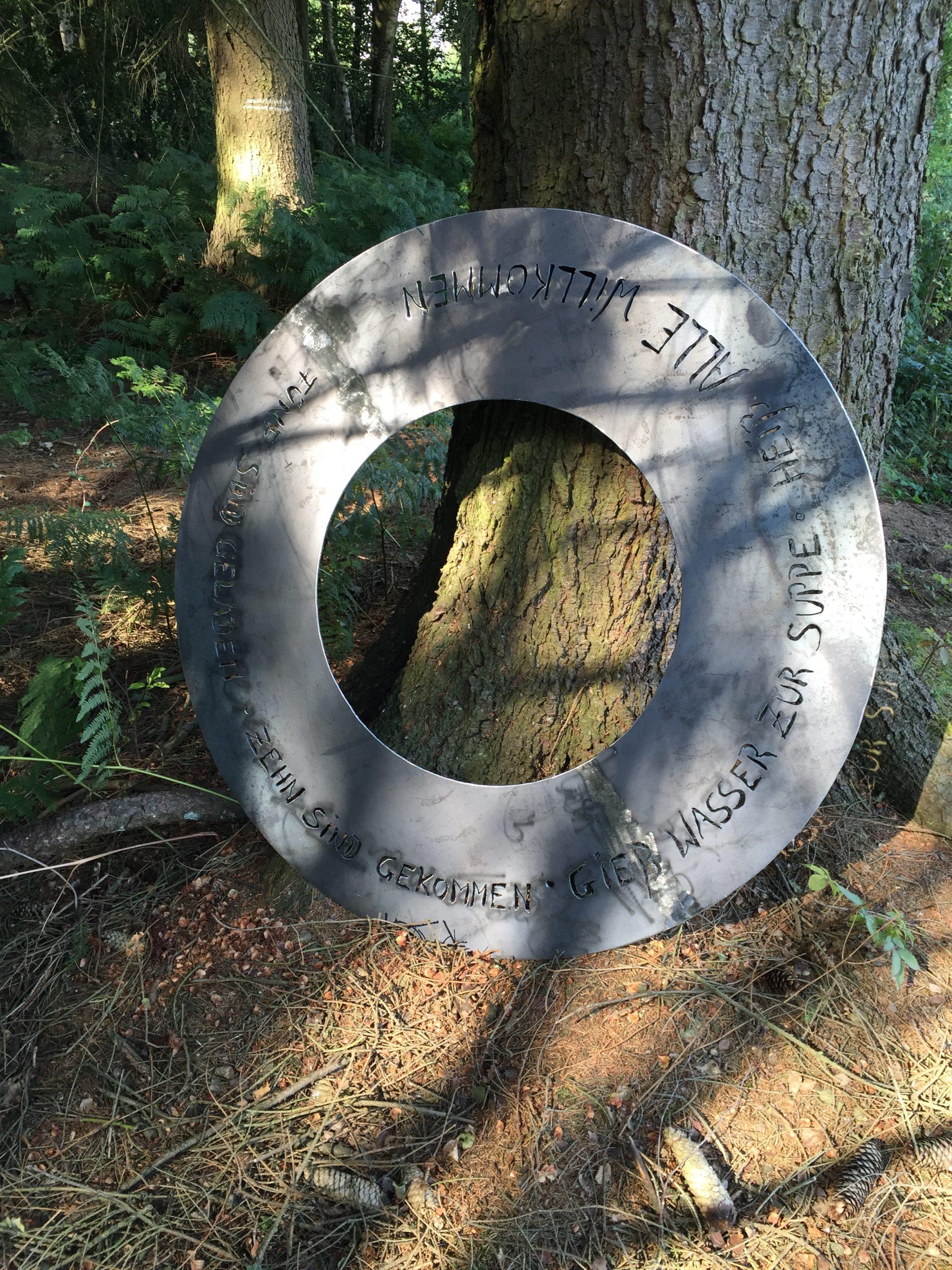 Tischplatte Grill Durchmesser aussen 130cm