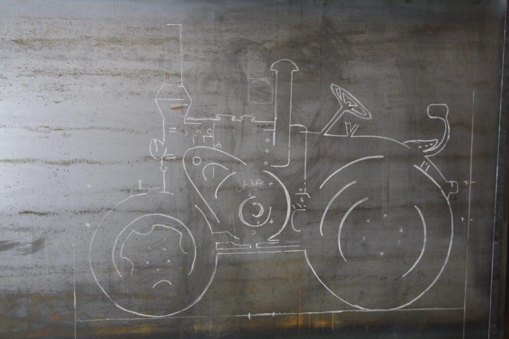 Schritt 2: Übertrag auf Stahlplatte